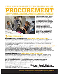 Procurement & Supply Management (PSM) Series (Course Series Flyer)