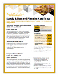 Download the Supply & Demand Planning Course Series flyer