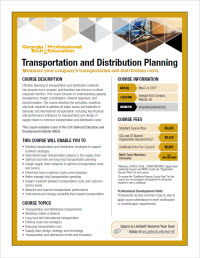 Download the Transportation and Distribution Planning flyer