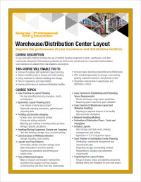 Download the Warehouse/Distribution Center Layout course flyer