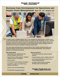 Download the Business Case Development for Operations and Supply Chain Management course flyer